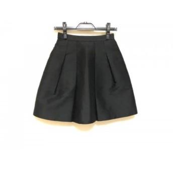 【中古】 ニジュウサンク 23区 スカート サイズ32 XS レディース 美品 黒