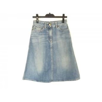 【中古】 クロエ Chloe スカート サイズ36 S レディース ライトブルー デニム