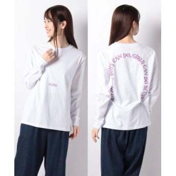 (X-girl/エックスガール)LETTERS L/S REGULAR TEE/レディース ホワイト 送料無料
