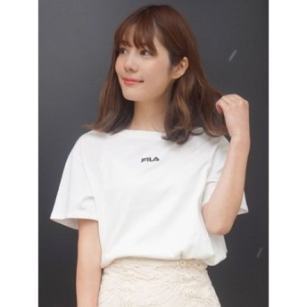 (MERCURYDUO/マーキュリーデュオ)【FILA MERCURYDUO別注】チビ刺繍Tシャツ/レディース オフホワイト