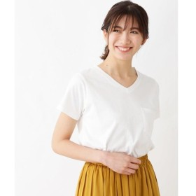 SHOO・LA・RUE / シューラルー 【汗染み軽減・洗濯機可】ポケットVネックTシャツ