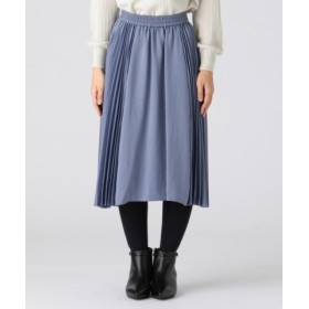 (KUMIKYOKU(S SIZE)/組曲(小さいサイズ))【洗える】ヴィンテージサテンプリーツ スカート/レディース サックスブルー系