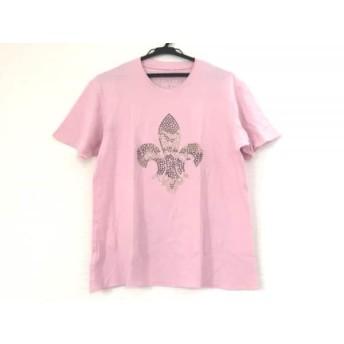【中古】 ルシアンペラフィネ 半袖Tシャツ サイズM レディース ピンク ダークグリーン マルチ