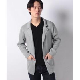 (koe/コエ)12G テ-ラ-ドカラ-ボタンレスカ-ディガン/メンズ 杢グレー