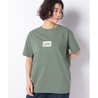 (LEE/リー)BOX LOGO Tシャツ 半袖/レディース グリーン