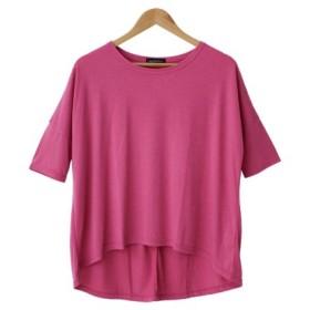 (SocialGIRL/ソーシャルガール)ドルマン5分袖BIGTシャツチュニック/レディース ピンク系1