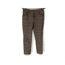 【中古】 ジャスグリッティー パンツ サイズ0 XS レディース ダークブラウン ベージュ レッド 千鳥格子