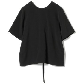 (BEAMS OUTLET/ビームス アウトレット)Demi-Luxe BEAMS/楊柳 バックリボンブラウス/レディース BLACK