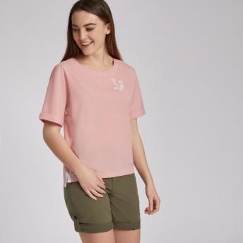 AIGLE レディース レディース 吸水速乾 バヌ フレンチスリーブ Tシャツ ZCFI279 LIGHT POUDRE (00A) Tシャツ
