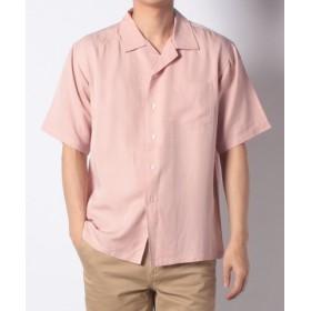 (URBAN RESEARCH/アーバンリサーチ)【WAREHOUSE】リヨセルオープンカラーシャツ2/メンズ ピンク
