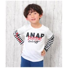 (ANAP KIDS/アナップキッズ)重ね着風ロンT/レディース ホワイト