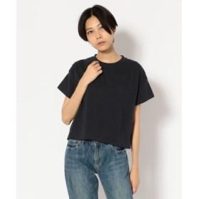 (UNCUT BOUND/アンカットバウンド)Ahe'hee(アヘヘ) 丸胴ワイドTシャツ/レディース BLACK