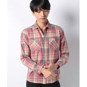 (MARUKAWA/マルカワ)【SMIT'S】 スミス ヘリンボンチェック 刺繍ワークシャツ/メンズ レッド