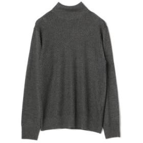 (Men's Bigi/メンズビギ)へリンボーンタートルネックセーター/メンズ グレー 送料無料