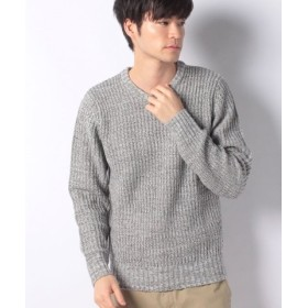 (MARUKAWA/マルカワ)セーター 畦 編み クルーネック/メンズ ミディアムグレー