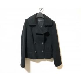 【中古】 エムプルミエ M-PREMIER コート サイズ34 S レディース 黒 冬物/ショート丈