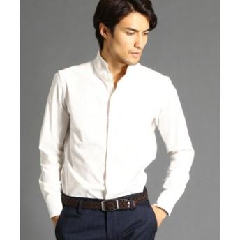 (MONSIEUR NICOLE/ムッシュニコル)コーデュロイスタンドカラーシャツ/メンズ 09ホワイト 送料無料