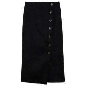 (Mila Owen/ミラオーウェン)セットアップボタンデザインタイトスカート/レディース BLK