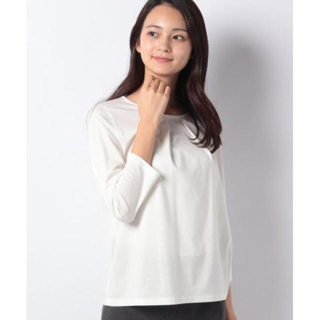 (LA JOCONDE/ラ ジョコンダ)【洗える】コンパクトポンチ Tシャツ/レディース ホワイト 送料無料