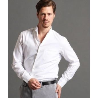 (MONSIEUR NICOLE/ムッシュニコル)スタンドカラーシャツ/メンズ 09ホワイト 送料無料
