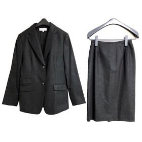 【中古】 ブルックスブラザーズ スカートスーツ サイズ11 M レディース ダークグレー 肩パッド
