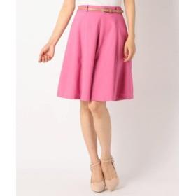(MEW'S REFINED CLOTHES/ミューズ リファインド クローズ)合繊8枚ハギスカート/レディース ピンク系