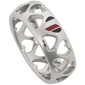 【HOT PRICE】トミーヒルフィガー リング アクセサリー TOMMY HILFIGER 2701093 VDAY PUNCHED HEART RING レディース 指輪 シルバー 夏フェス 海 ビーチ
