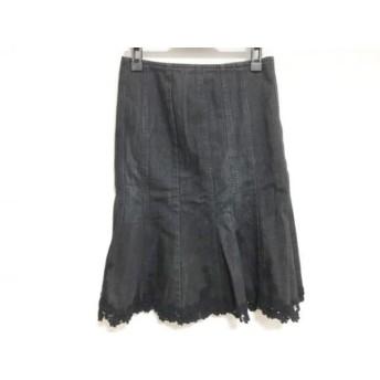 【中古】 エポカ EPOCA スカート サイズITL 40 レディース 黒 デニム/刺繍