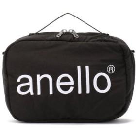 (LHP/エルエイチピー)anello/アネロ/HDT立体刺繍ネーム ショルダーバッグ《AT-H1902》/レディース BLACK