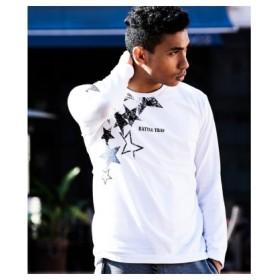 (Men's Bigi/メンズビギ)プリントロングスリーブTシャツ/メンズ ホワイト