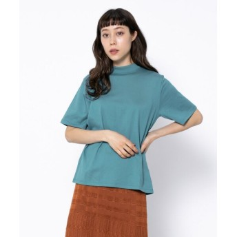 【26%OFF】 センスオブプレイス オーガニックコットンハイネックTシャツ(5分袖) レディース BLUE FREE 【SENSE OF PLACE】 【セール開催中】