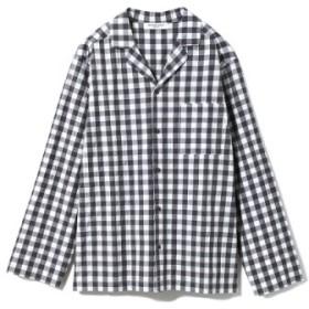 (gelato pique/ジェラートピケ)【GELATOPIQUEHOMME】ギンガムチェックシャツ/ユニセックス GRY 送料無料