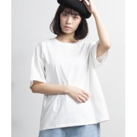 (WEGO/ウィゴー)WEGO/USAコットンUネックTシャツ/ユニセックス ホワイト