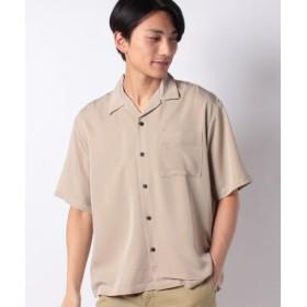 (WEGO/ウィゴー)フィブリルオープンカラーシャツ(S)/メンズ ベージュ