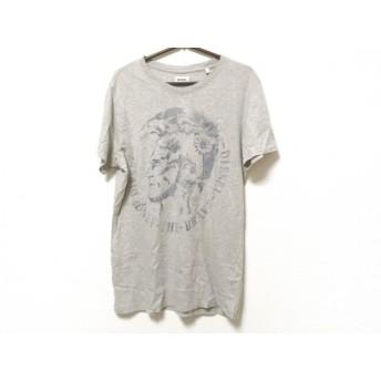【中古】 ディーゼル DIESEL 半袖Tシャツ サイズS メンズ グレー ブルー