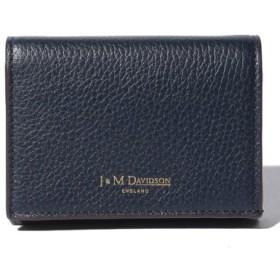 (IMPORT SELECTION/インポートセレクション)【J & M DAVIDSON】二つ折り ミニ財布/ONE FOLD WALLET 【NEW NAVY】/レディース ネイビー 送料無料