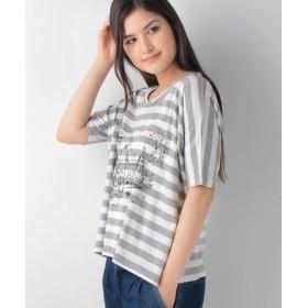 (MELROSE Claire/メルローズ クレール)くまのプーさん CollectionTシャツ/レディース ホワイト×グレー