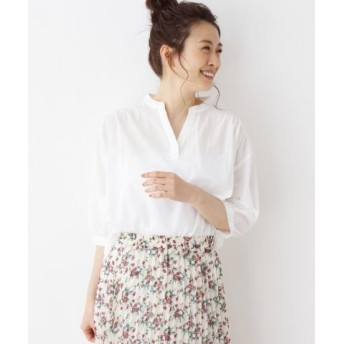(SHOO・LA・RUE/シューラルー)バックレースデザインシャツ/レディース オフホワイト(003)