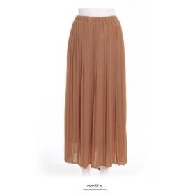 (GROWINGRICH/グローウィングリッチ)[ボトムス スカート] 繊細なプリーツが上品な揺れ感を演出 ジョーゼット プリーツスカート [190323]/レディース ベージュ