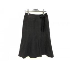 【中古】 インゲボルグ INGEBORG ロングスカート サイズ11 M レディース 黒