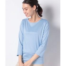 (LA JOCONDE/ラ ジョコンダ)【洗える】スーピマスムース Tシャツ/レディース ブルー 送料無料