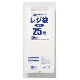 (まとめ) スマートバリュー レジ袋 25号 100枚 B925J【×30セット】