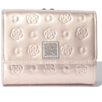 (CLATHAS/クレイサス(バッグ))ベティー 口金折り財布/レディース ベージュロゼ 送料無料