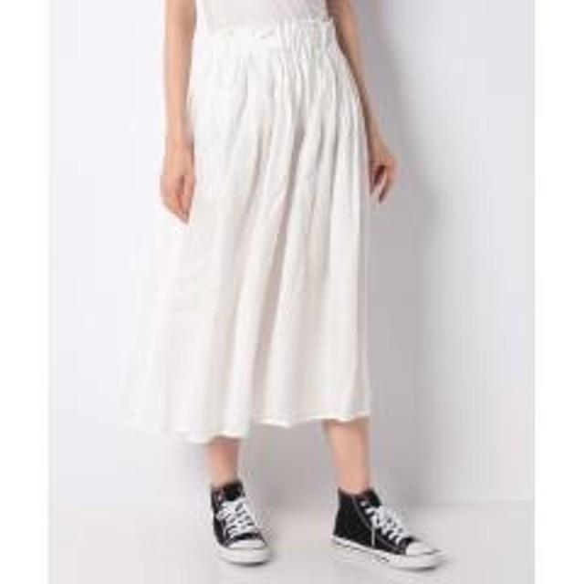 15%OFFクーポン対象商品 テレデランリネンギャザースカート クーポンコード:CKJNNWW