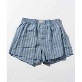 (GIORDANO/ジョルダーノ)[GIORDANO]トランクス/メンズ ブルー系ストライプ