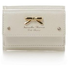 (Samantha Thavasa Petit Choice/サマンサタバサプチチョイス)シンプルリボンプレートミニ財布/レディース ホワイト 送料無料