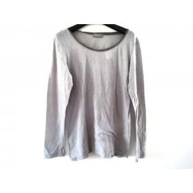 【中古】 マーガレットハウエル MargaretHowell 長袖Tシャツ サイズ2 M レディース 美品 ライトグレー