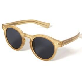 (REAL STYLE/リアルスタイル)クリアフレームサングラス レディース メガネ 眼鏡 めがね 伊達 ダテ UVカット UV400 紫外線 アクセサリー 小物 グラサンメンズ ユニセックス 透け感/レディース ベージュ
