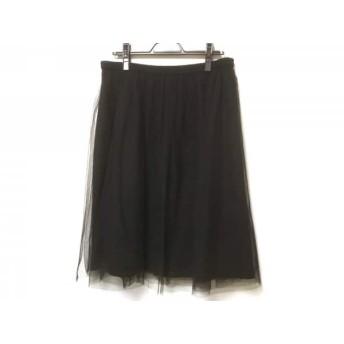 【中古】 ローズティアラ Rose Tiara スカート サイズ46 XL レディース 黒 チュール/ウエストゴム