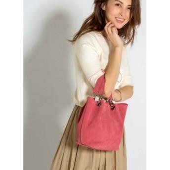 (STYLE DELI/スタイルデリ)【MAURIZIO TAIUTI 】04-suede hand bag/レディース ピンク 送料無料